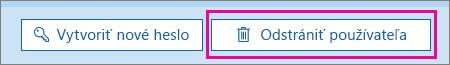 Odstránenie používateľa vslužbách Office 365