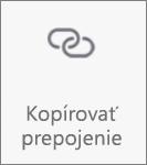 Tlačidlo na kopírovanie prepojenia vp OneDrive pre Android