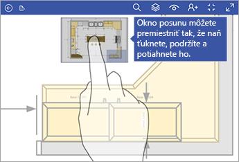 Ťuknite na tlačidlo Posunúť okno a podržte ho, potom ho môžete presúvať na obrazovke.