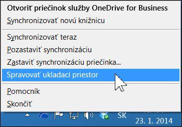 Správa ukladacieho priestoru vo OneDrive for Business