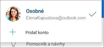 Pridanie konta v aplikácii OneDrive pre Android