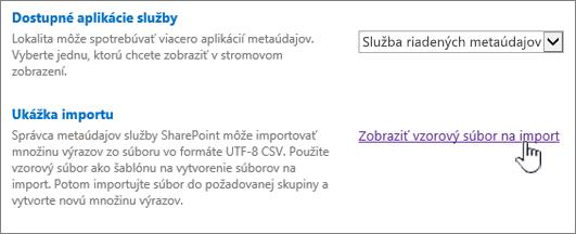 Zobraziť vzorový súbor na import