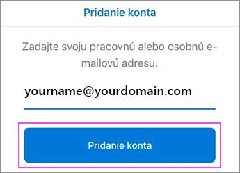 Zadajte svoju e-mailovú adresu