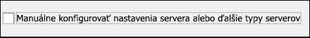 Výber manuálneho nastavenia e-mailov služby Gmail