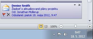 Upozornenie programu Outlook na pracovnej ploche