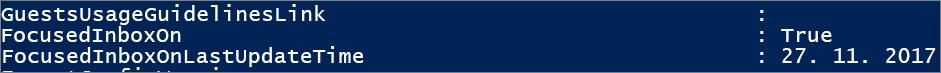 Odpoveď zprostredia PowerShell na stav Prioritnej doručenej pošty.