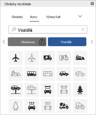 Vyberte ikonu.