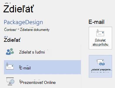 Odoslanie e-mailu tímu