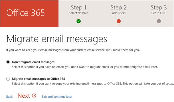 Migrácia e-mailu