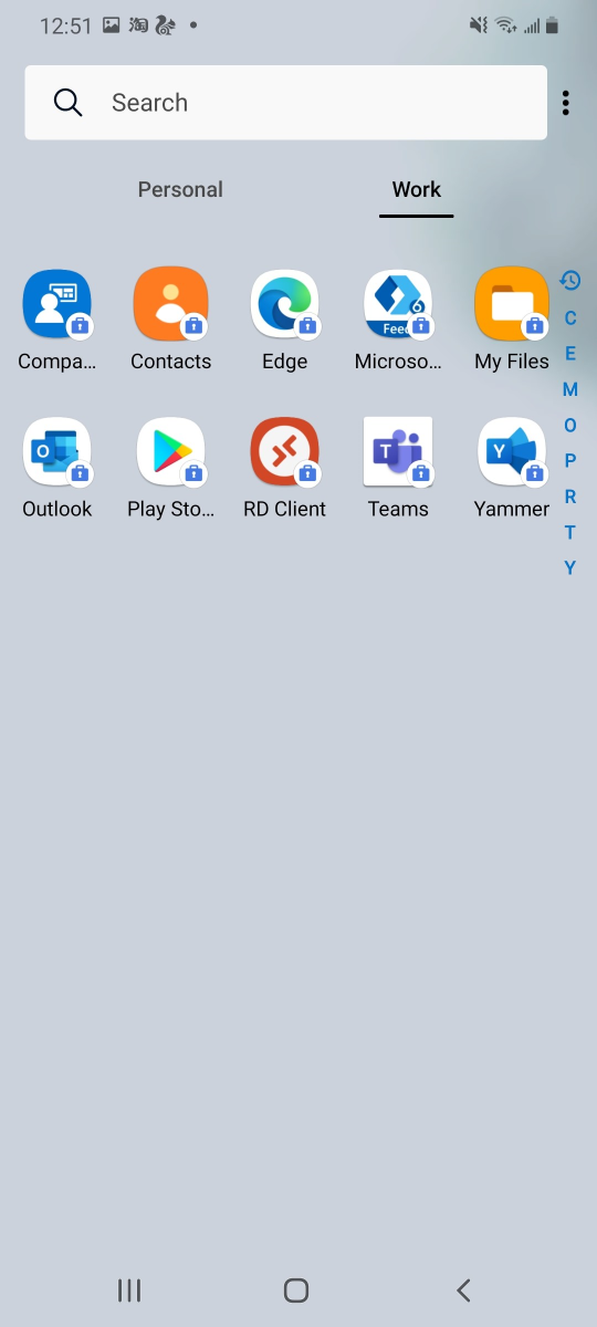 osobná zásuvka aplikácií