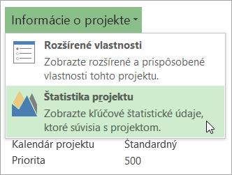 Možnosti informácií oprojekte