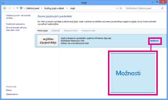 Pridanie metódy vstupu do ovládacieho panela vo Windowse 8