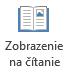 Zobrazenie na čítanie je vhodný na čítanie powerpointovej prezentácie celú obrazovku, keď nie je žiadne prezentujúceho.