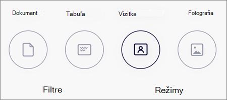 Možnosti režimu skenovania obrázkov vo OneDrive pre iOS