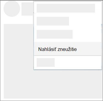 Snímka obrazovky s postupom nahlásiť zneužitie vo OneDrive