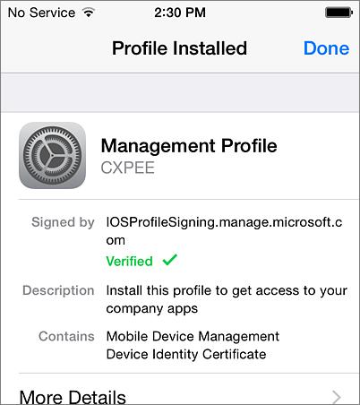 Dokončenie inštalácie profilu viPhone