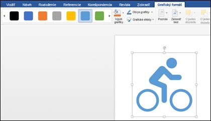 Galéria štýlov so svetlým modrým štýlom použitým na grafiku bicykla