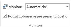 Skupina Monitory na karte Prezentácia