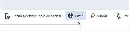 Snímka obrazovky stlačidlom Tlačiť