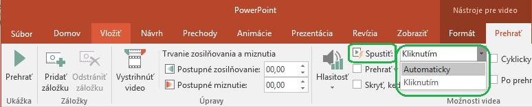 Videá vložené zpočítača môžete nastaviť tak, aby sa spúšťali automaticky alebo až po kliknutí.