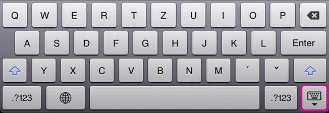 Skrytie klávesnice na obrazovke