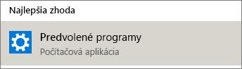 Predvolené programy vo Windowse