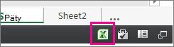 Ikona Excelu v Exceli pre web
