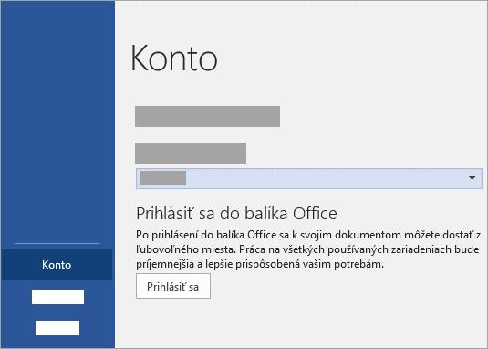 Prihláste pomocou účtu Microsoft alebo Office 365 pracovného alebo školského konta.