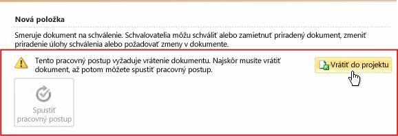 Snímka obrazovky dialógového okna s požiadavkou okamžitej správy