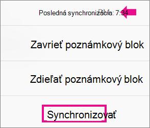 IPhone synchronizovať príkaz
