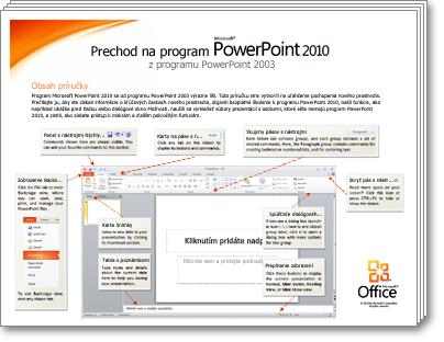 Miniatúra príručky prechodu na program PowerPoint 2010