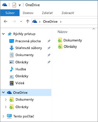 OneDrive v Prieskumníkovi