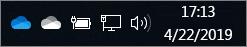 Synchronizačný klient pre OneDrive smodrou ikonou oblaku abielou ikonou oblaku