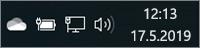 Biela ikona OneDrivu na paneli úloh