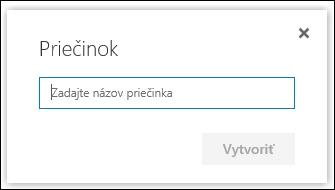 Názov nového priečinka knižnice dokumentov