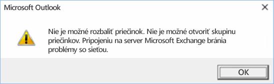 Chyba Outlooku 2016 – nie je možné rozbaliť priečinok