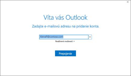 Vitajte v Outlooku