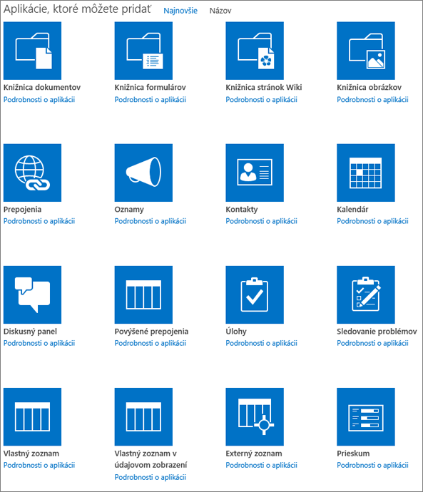 Snímka obrazovky sprvou obrazovkou stránky Vaše aplikácie.