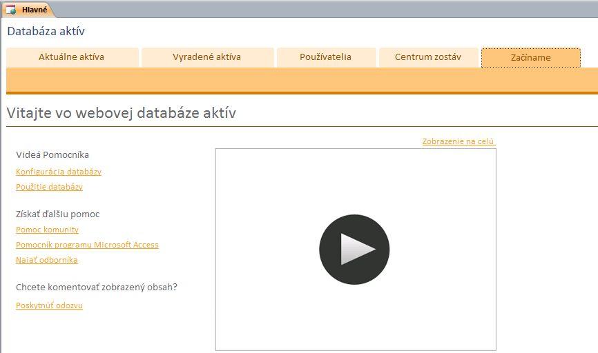 Webová databáza aktív