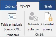 Na karte Vývojár kliknite v skupine zabezpečiť kliknite na položku obmedziť úpravy