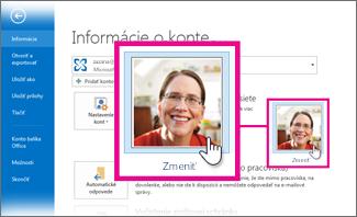 Zmena vlastného obrázka pre Office z programu Outlook