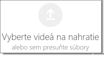 Office 365 Video vyberte videá na nahratie