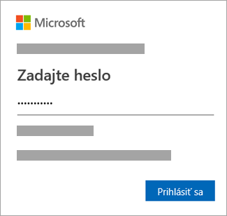 Zadajte heslo.