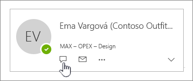 Karta kontaktu so zvýraznenou ikonou okamžitých správ