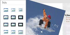 Štýly obrázkov v PowerPointe pre Android