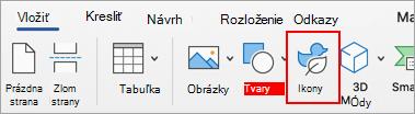 Vyberte položku ikony.