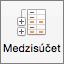 Na karte Údaje vyberte položku Medzisúčet