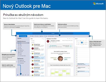 Príručka so stručným návodom pre Outlook 2016 pre Mac