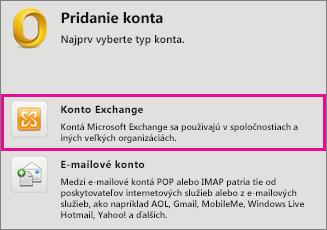 Nástroje > Kontá > Konto Exchange