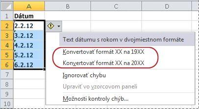 Obmedzenie dátumov mimo určitého časového rozsahu – môžete napríklad zabrániť tomu, aby overenie údajov do excelovej tabuľky, ktorá je prepojená na lokalitu SharePoint.